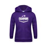 Youth Purple Fleece Hoodie-GMAC Softball Champions 2017 Plate