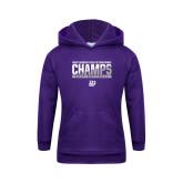 Youth Purple Fleece Hoodie-GMAC Champs 2017 Softball