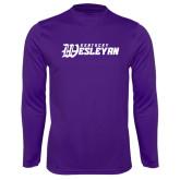 Syntrel Performance Purple Longsleeve Shirt-Kentucky Wesleyan
