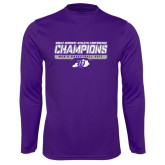 Syntrel Performance Purple Longsleeve Shirt-Great Midwest Athletic Conference Champions - Mens Basketball 2017 Stencil