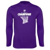 Syntrel Performance Purple Longsleeve Shirt-G-MAC Champions - Mens Basketball 2017 Net