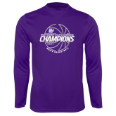 Syntrel Performance Purple Longsleeve Shirt-Great Midwest Athletic Conference Champions - 2017 Mens Basketball Lined Ball