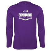 Syntrel Performance Purple Longsleeve Shirt-GMAC Softball Champions 2017 Plate
