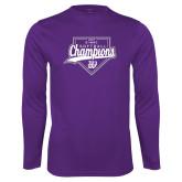 Syntrel Performance Purple Longsleeve Shirt-GMAC Softball Champions 2017 Script