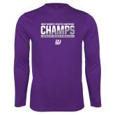 Syntrel Performance Purple Longsleeve Shirt-GMAC Champs 2017 Softball