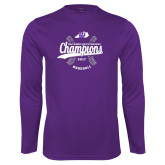 Syntrel Performance Purple Longsleeve Shirt-GMAC Baseball Champions 2017