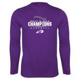 Syntrel Performance Purple Longsleeve Shirt-2017 GMAC Baseball Champions 2017