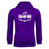 Purple Fleece Hoodie-GMAC Softball Champions 2017 Plate
