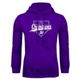 Purple Fleece Hoodie-GMAC Softball Champions 2017 Script