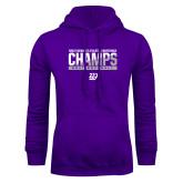 Purple Fleece Hoodie-GMAC Champs 2017 Softball