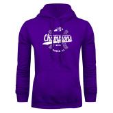 Purple Fleece Hoodie-GMAC Baseball Champions 2017
