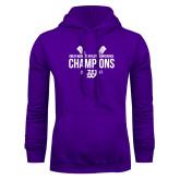 Purple Fleece Hoodie-GMAC Baseball Champions 2017 Stacked