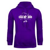 Purple Fleece Hoodie-2017 GMAC Baseball Champions 2017