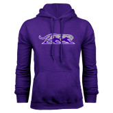 Purple Fleece Hoodie-Panther