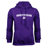 Purple Fleece Hoodie-Arched Kentucky Wesleyan