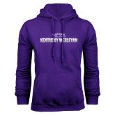 Purple Fleece Hoodie-Kentucky Wesleyan 2 Tone