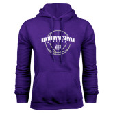 Purple Fleece Hoodie-Kentucky Wesleyan Basketball Arched