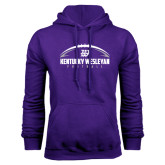 Purple Fleece Hoodie-Kentucky Wesleyan Football w/ Ball