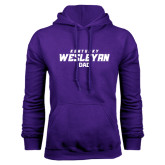 Purple Fleece Hoodie-Dad