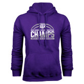 Purple Fleece Hoodie-Great Midwest Athletic Conference Champs - 2017 Mens Basketball Half Ball