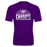 Syntrel Performance Purple Tee-Great Midwest Athletic Conference Champs - 2017 Mens Basketball Half Ball