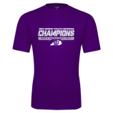 Syntrel Performance Purple Tee-Great Midwest Athletic Conference Champions - Mens Basketball 2017 Stencil