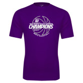 Syntrel Performance Purple Tee-Great Midwest Athletic Conference Champions - 2017 Mens Basketball Lined Ball