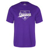 Syntrel Performance Purple Tee-GMAC Softball Champions 2017 Script