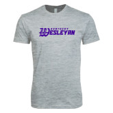 Next Level SoftStyle Heather Grey T Shirt-Kentucky Wesleyan