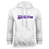 White Fleece Hoodie-Kentucky Wesleyan