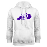 White Fleece Hoodie-Kentucky W