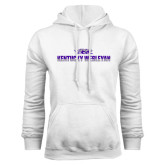 White Fleece Hoodie-Kentucky Wesleyan 2 Tone