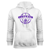 White Fleece Hoodie-Kentucky Wesleyan Basketball Arched