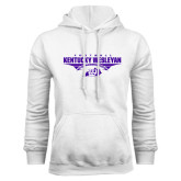 White Fleece Hoodie-Kentucky Wesleyan Football Stacked