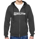 Charcoal Fleece Full Zip Hoodie-Kentucky Wesleyan