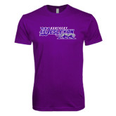 Next Level SoftStyle Purple T Shirt-Primary Logo