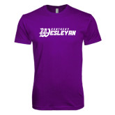 Next Level SoftStyle Purple T Shirt-Kentucky Wesleyan