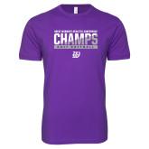 Next Level SoftStyle Purple T Shirt-GMAC Champs 2017 Softball