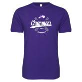 Next Level SoftStyle Purple T Shirt-GMAC Baseball Champions 2017