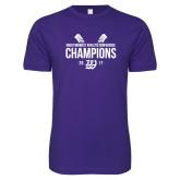 Next Level SoftStyle Purple T Shirt-GMAC Baseball Champions 2017 Stacked