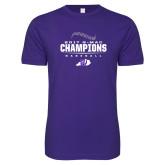Next Level SoftStyle Purple T Shirt-2017 GMAC Baseball Champions 2017