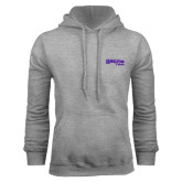 Grey Fleece Hoodie-Primary Logo