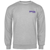 Grey Fleece Crew-Primary Logo