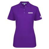 Ladies Easycare Purple Pique Polo-2017 G-MAC Champions Softball