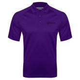 Purple Textured Saddle Shoulder Polo-Kentucky Wesleyan