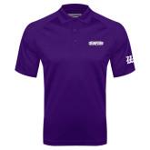 Purple Textured Saddle Shoulder Polo-2017 G-MAC Champions Mens Basketball