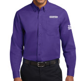 Purple Twill Button Down Long Sleeve-2017 G-MAC Champions Mens Basketball