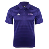 Adidas Climalite Purple Jaquard Select Polo-Primary Logo