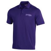 Under Armour Purple Performance Polo-Primary Logo