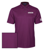 Purple Performance Fine Jacquard Polo-2017 G-MAC Champions Mens Basketball